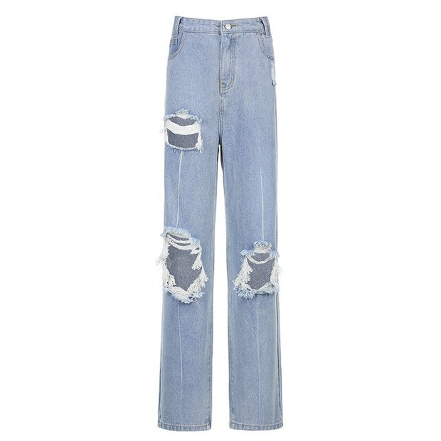 Hole Distress Jeans