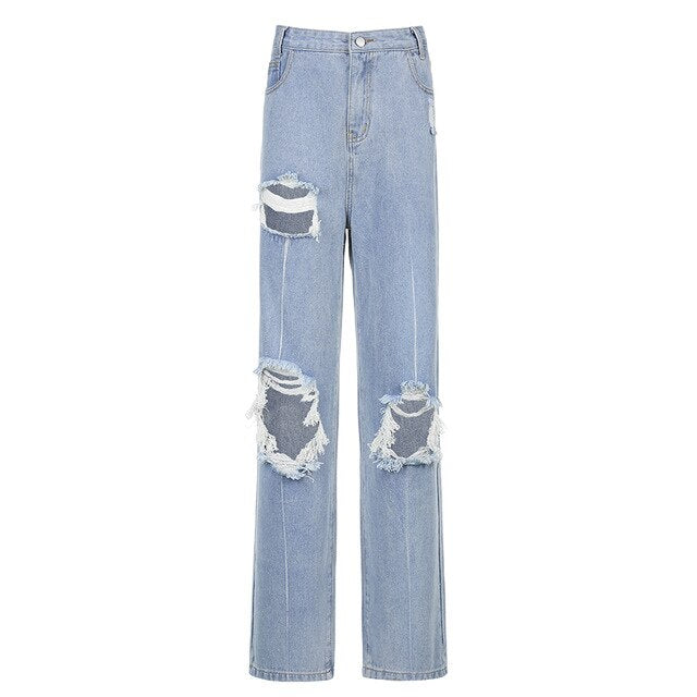 Hole Distress Jeans - Own Saviour