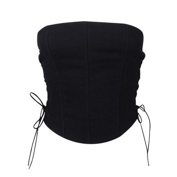 Side Tie Corset Crop - Own Saviour - Free worldwide shipping