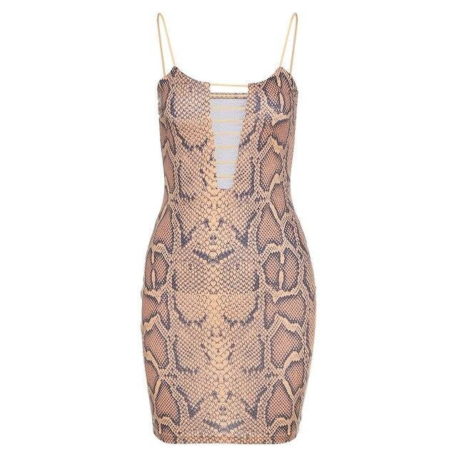 Snake Cut Out Mini Dress - Own Saviour
