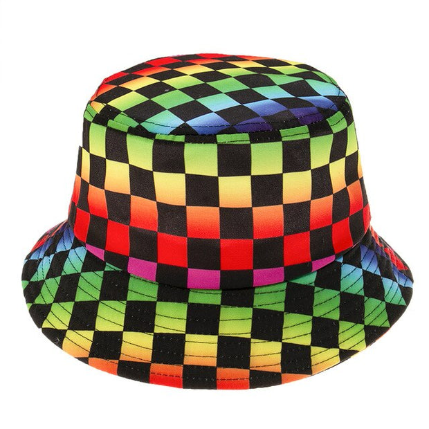Rainbow Checkerboard Bucket Hat - Own Saviour - Free worldwide shipping
