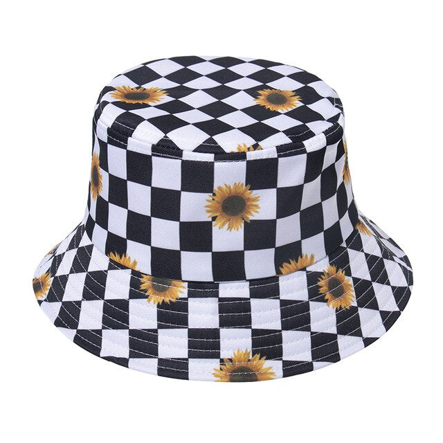Sunflower Check Bucket Hat - Own Saviour