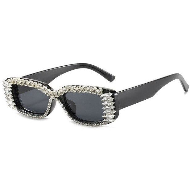 Rhinestone Rectangle Shades - Own Saviour - Free worldwide shipping