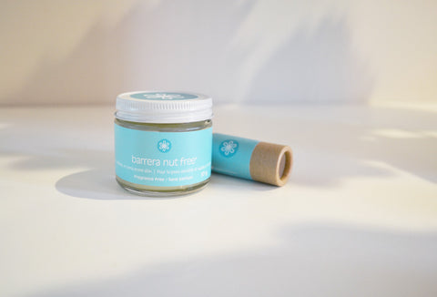 Barrera Nut Free, small + balm, for sensitive, eczema prone skin. Fragrance-free.