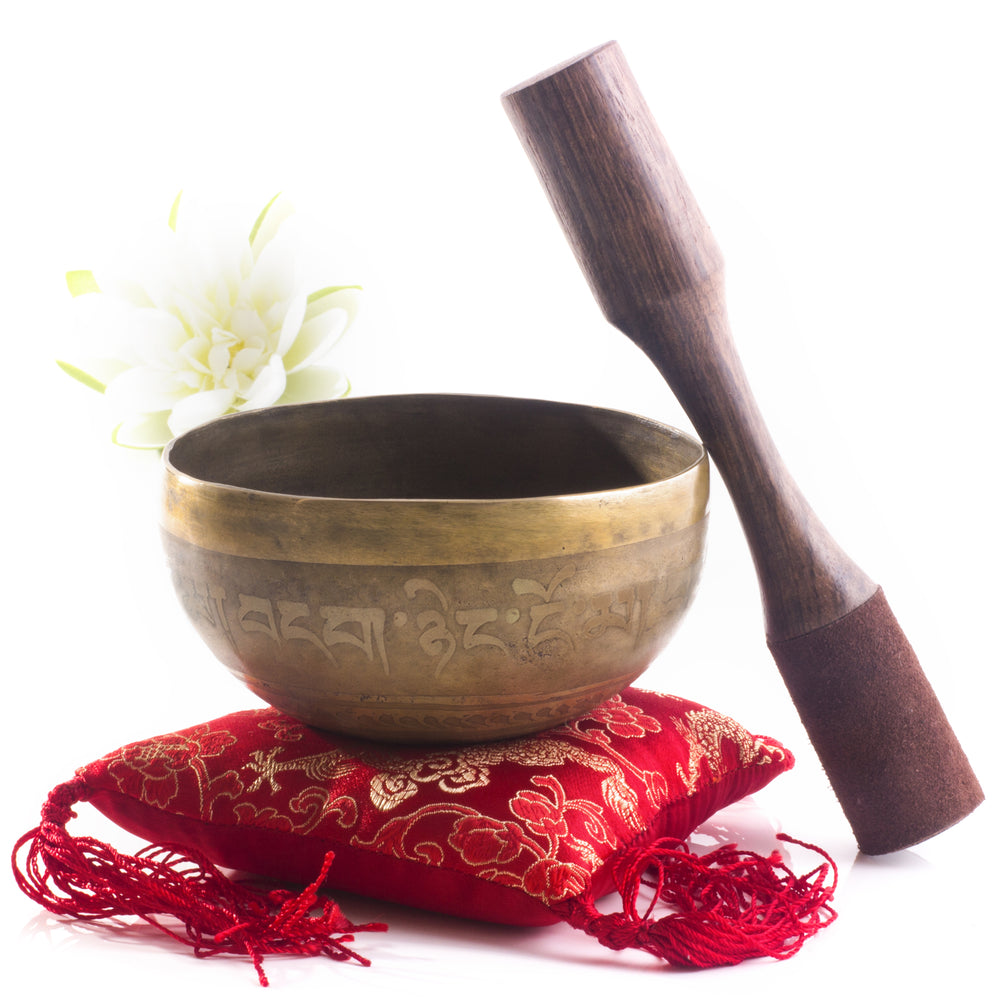 Hand Hammered B Crown Chakra singing bowl Silent Mind - Silent Mind