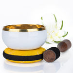 Purity White Design Singing Bowl Silent Mind - Silent Mind
