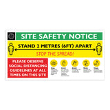 Social Distancing Site Safety Signage
