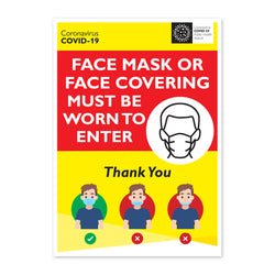 Face Mask/Covering must be worn