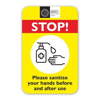 Covid-19 Office Equipment Hand Sanitiser Notice Labels