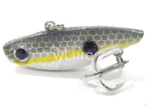 wLure Fishing Lure  Lipless Trap Crankbait Hard Bait  Sinking Bass Walleye Crappie 4cm Tiny VIB  L666