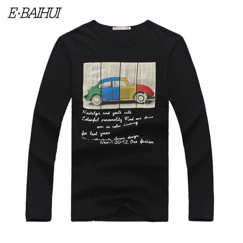 E-BAIHUI mens t shirts fashion Brand men tops tees Swag Casual t shirt Long Sleeve tshirt Male T-shirts camisas MasculinasCT047