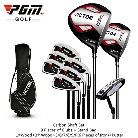 PGM. Full complete set of golf clubs with wheel bag.