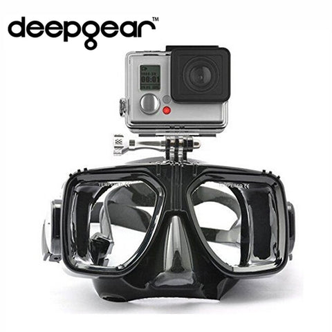 gopro diving mask soft liquid silicon scuba diving mask with clear tempered glass top snorkel mask for adult diving