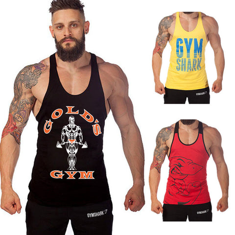men top tank tops  tanktop fitness body building clothing SHIRT golds men Singlets clothing male gymshark Equipment