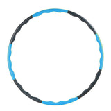Super sell 80CM fitness removable weight loss Hard Tube equipment waist slimming hula hoops blue