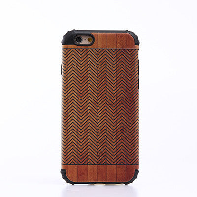 Wooden Patern Case Cover for iPhone 5S 6S Plus 7 Plus