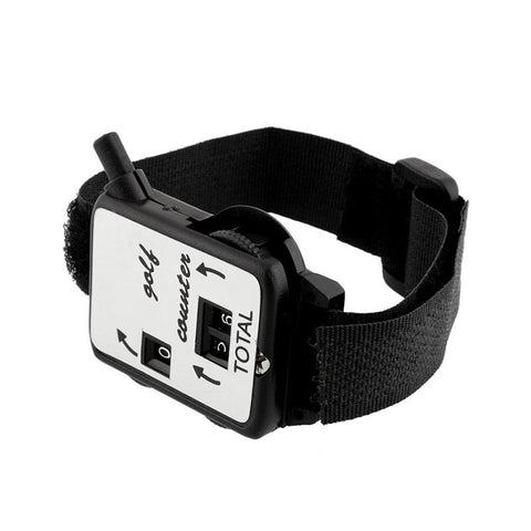 Outdoor Sports Golf Club Stroke Score Counter Keeper Shot Scorer Accessories Mini Black Wristband Hot