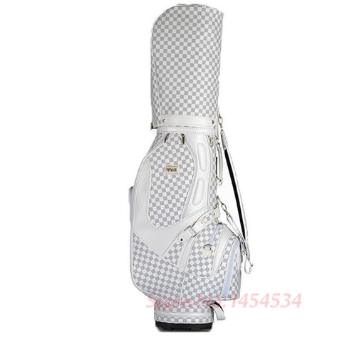 PGM-VS Golf Standard Ball Package Bag87*23*46CM Men Golf Plaid Club Bag Women Ball Environmental PU Cart Bag Can Hold 13 Clubs
