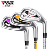 Authentic PGM Children's Girl Golf Clubs Iron Driver for Boy 7 Iron Right-hand Inferior Steel Exercise Cartoon Ultralight Club