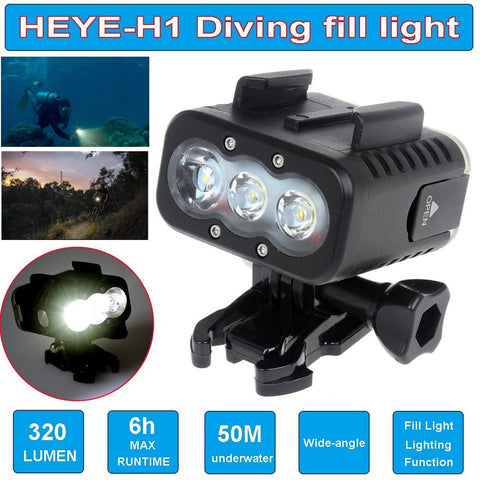 Boblov Waterproof Underwater 50M Scuba Diving Fill LED Light For GoPro Hero