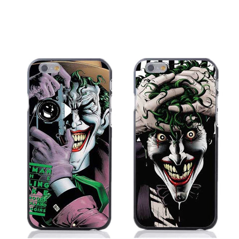 Joker Batman The Killing Joke fashion mobile phone case cover for iphone SE 4 4s 5 5s 5C 6 6S 6Plus Black back cover hardcover