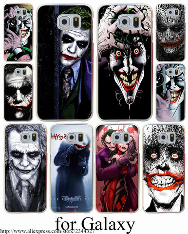 Joker Batman The Killing Joke Black Hard Transparent Case Cover for Galaxy S3 S4 S5 & Mini S6 S7 Edge Plus Case Cover
