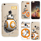 Transparent cases for apple iphone 5 5s Case Star Wars The Force Awakens BB-8 Droid Robot soft back cover for iphone 5 TPU case