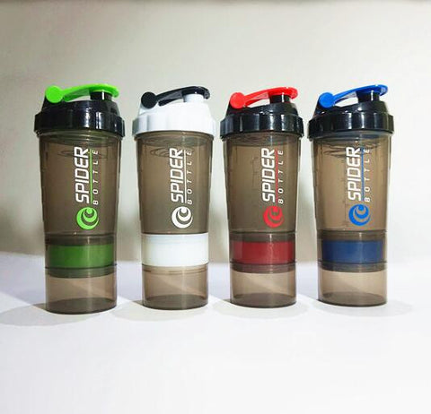 Protein Shaker Blender Mixer Cup Sports Fitness gym 3 Layers Multifunction 600ml BPA free Shaker Bottle 1pc