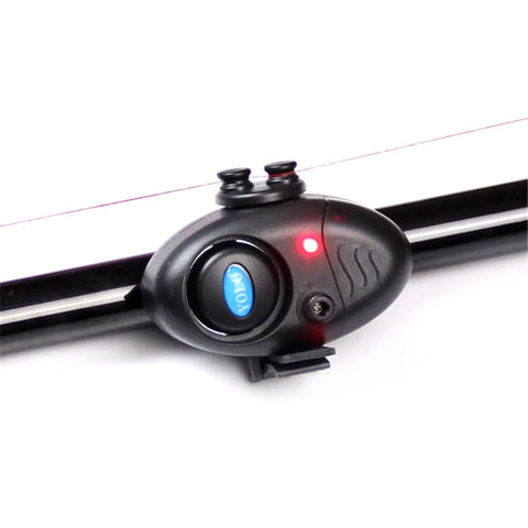 Fishing Electronic LED Light Fish Bite Sound Alarm Bell Clip On Fishing Rod Black Tackle