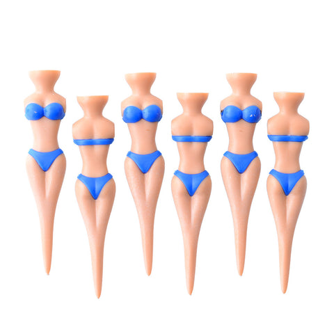 6pcs Novelty Sexy Multifunction Bikini Lady Golf Stag Tees Divot Tools Gift Stag Blue High Quality Golf Club Accessories