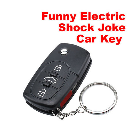 Electric Shock Gag Joke Prank Car Key Remote Control Fun with LED Light Electronic Toys