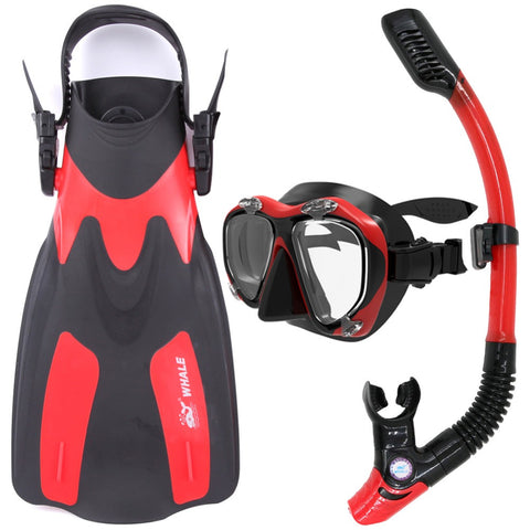 Whale Scuba Diving Mask snorkel fins set