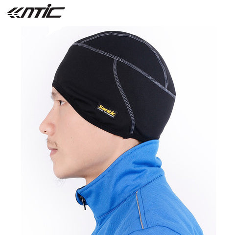 SANTIC Fleece Thermal Winter Outdoor Sports Hiking Skiing Bike Bicycle Cycling Helmet Headband Liner Windproof Face Mask Hat Cap