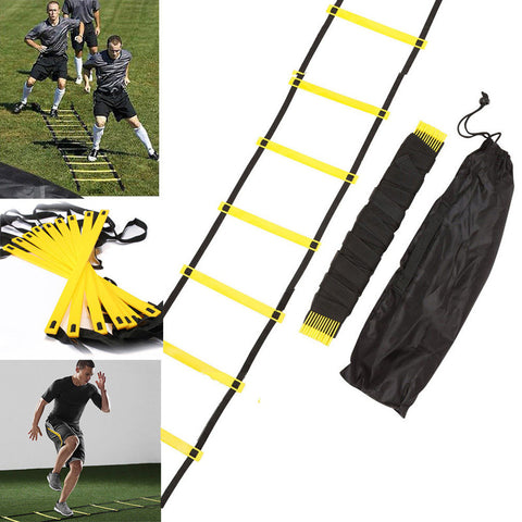 New Outdoor Fitness Equipment Durable 10 Rung 15 Feet 5M Agility Ladder for Speed Soccer Football Fitness Feet Training With Bag