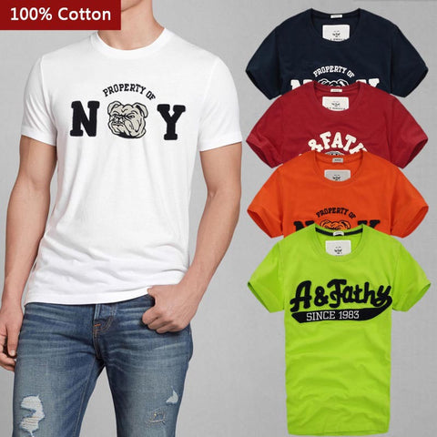 2016 New 100% Quality Cotton T-Shirts Men Short Sleeve Summer Tops For Man Famous Brand Design Causal T shirts Male Tees F01 JMS