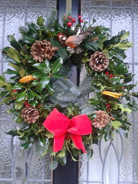 Festive Door Wreath, Wreath - Oasis Florists