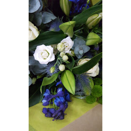 New Baby Boy Bouquet, Flowers - Oasis Florists-coombe-holles-street-new-baby-boy-delivery-nationwide