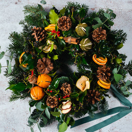 Natural Festive Door Wreath