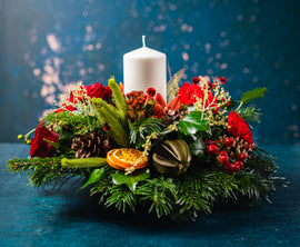 Festive Delight Candle Arrangement