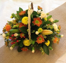Autumn Blooms Basket!, Flowers - Oasis Florists