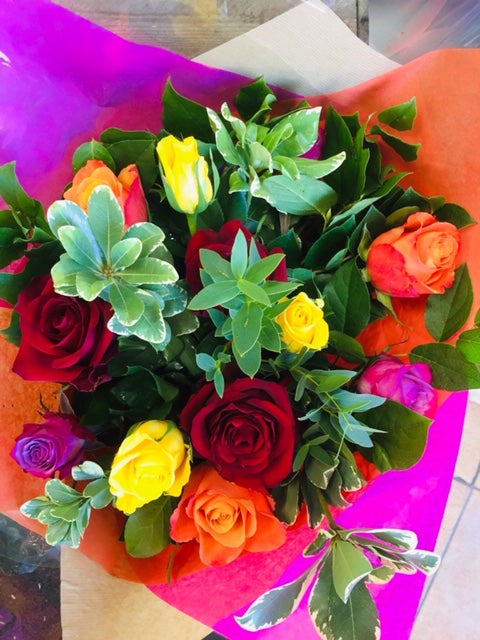 The Colour Dozen, Roses - Oasis Florists