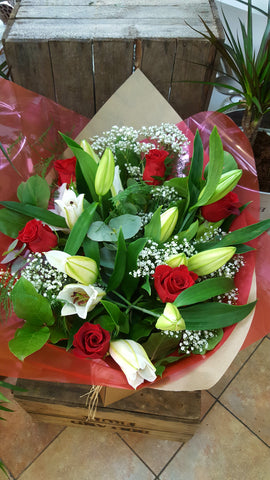 The Lily & Rose Handtie, Flowers - Oasis Florists