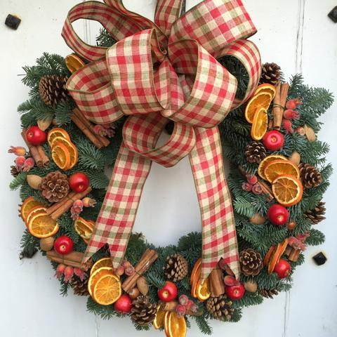 Orange and Cinnamon Festive Wreath from €40, Wreath - Oasis Florists