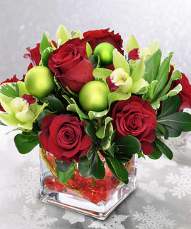 Christmas Cube, Flowers - Oasis Florists