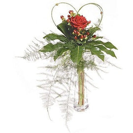 Single Rose Vase***sold out****, Flowers - Oasis Florists