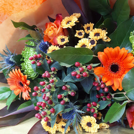Rustic Autumn Bouquet, Flowers - Oasis Florists