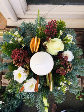 Snowy Table Arrangement, Flowers - Oasis Florists