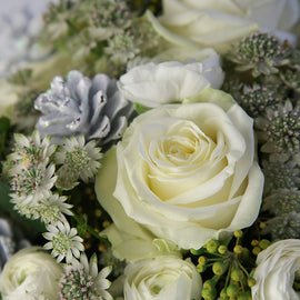White Christmas Festive Bouquet, Flowers - Oasis Florists