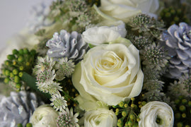 White Christmas Bouquet, Flowers - Oasis Florists