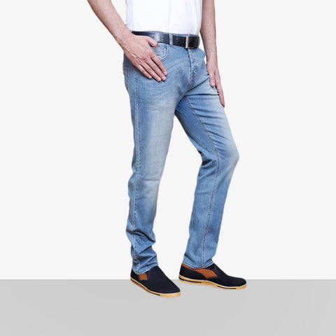 Denim Faded Light Blue Jeans 1